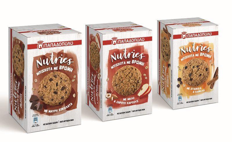 Η σειρά κάνει το ντεμπούτο της με τα μπισκότα με βρώμη Nutries, που είναι κατάλληλα για όλους όσοι έχουν μία πιο απαιτητική καθημερινότητα.