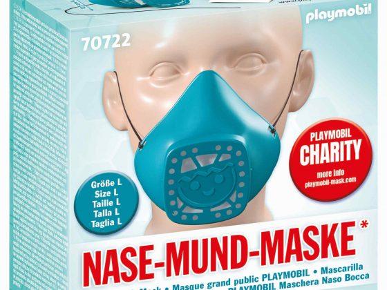 Η Playmobil Hellasπαρουσιάζει το επαναχρησιμοποιούμενο«κάλυμμα μύτης και στόματος», το οποίο κατασκεύασε ο όμιλος Brandstätter.