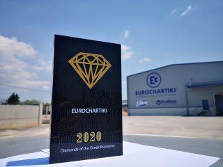 Η Eurochartiki συγκαταλέγεται στα διαμάντια της ελληνικής οικονομίας, μια ακόμη διάκριση για την προσφορά της στον βιομηχανικό κλάδο.